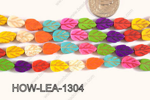 Howlite Leaf 13x9mm HOW-LEA-1304