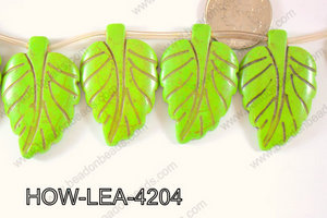 Howlite Leaf 42x27mm HOW-LEA-4204