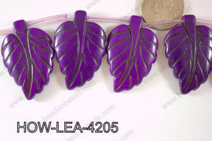 Howlite Leaf 42x27mm HOW-LEA-4205