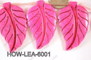 Howlite Leaf 60x40mm HOW-LEA-6001