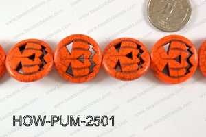 Howlite Pumpkin 25mm Orange HOW-PUM-2501