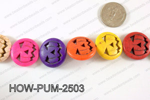 Howlite Pumpkin 25mm Multi HOW-PUM-2503