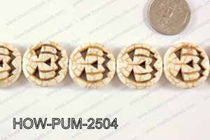 Howlite Pumpkin 25mm White HOW-PUM-2504