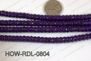 Howlite Rondelle Faceted Purple 08mm HOW-RDL-0804
