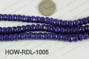Howlite Rondelle Faceted Purple 10mm HOW-RDL-1005