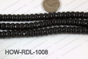 Howlite Rondelle Faceted Black 10mm HOW-RDL-1008