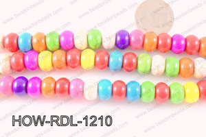 howlite rondelle multicolor 12mm HOW-RDL-1210