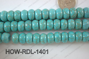 Howlite Rondel 14mm HOW-RDL-1401