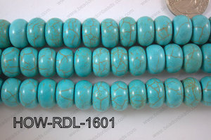 Howlite Rondel 16mm HOW-RDL-1601