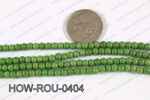 Howlite Round Green 4mm HOW-ROU-0404