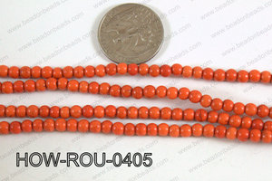 Howlite Round Orange 4mm HOW-ROU-0405