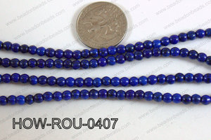 Howlite Round Dark Blue 4mm HOW-ROU-0407
