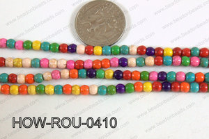 Howlite Round Multicolor 4mm HOW-ROU-0410