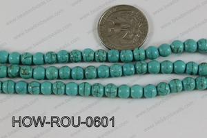 Howlite Round Turquoise 6mm HOW-ROU-0601