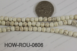 Howlite Round White 6mm HOW-ROU-0606