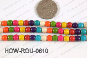 Howlite Round Multicolor 6mm HOW-ROU-0610