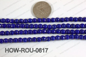 Howlite Round Faceted 32 cut Dark Blue 6mm HOW-ROU-0617