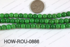 Howlite Round Green 8mm HOW-ROU-0886