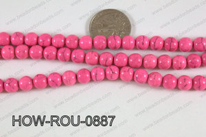 Howlite Round Pink 8mm HOW-ROU-0887