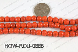 Howlite Round Orange 8mm HOW-ROU-0888