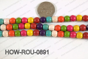 Howlite Round Multicolor 8mm HOW-ROU-0891