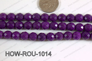 Howlite Round Faceted 32 cut Purple 10mm HOW-ROU-1014