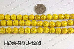 Howlite Round Yellow 12mm HOW-ROU-1203
