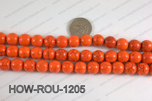 Howlite Round Orange 12mm HOW-ROU-1205
