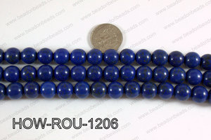 Howlite Round Dark Blue 12mm HOW-ROU-1206