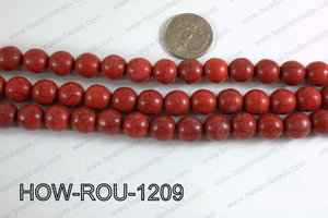 Howlite Round Light Red 12mm HOW-ROU-1209