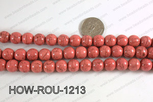 Howlite Round Pink 12mm HOW-ROU-1213