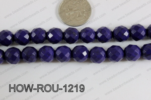 Howlite Round Faceted 32 Cut Purple 12mm HOW-ROU-1219
