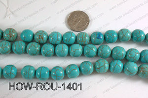 Howlite Round Turquoise 14mm HOW-ROU-1401