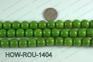 Howlite Round Green 14mm HOW-ROU-1404