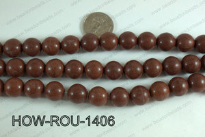 Howlite Round Brown 14mm HOW-ROU-1406
