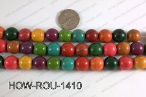 Howlite Round Multicolor 14mm HOW-ROU-1410