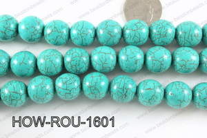 Howlite Round Turquoise 16mm HOW-ROU-1601