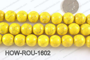Howlite Round Yellow 16mm HOW-ROU-1602
