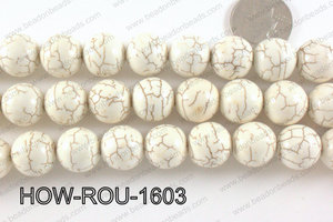 Howlite Round White 16mm HOW-ROU-1603