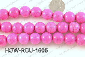 Howlite Round Pink 16mm HOW-ROU-1605