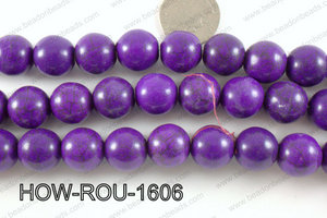 Howlite Round Purple 16mm HOW-ROU-1606
