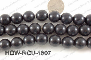 Howlite Round Black 16mm HOW-ROU-1607