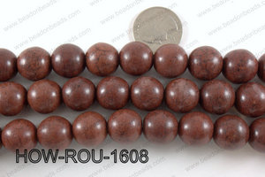 Howlite Round Brown 14mm HOW-ROU-1608