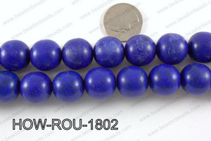 Howlite Round Dark Blue 18mm HOW-ROU-1802