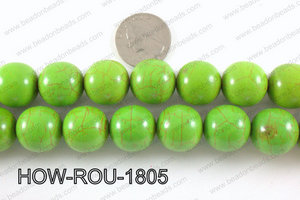 Howlite Round Green 18mm HOW-ROU-1805