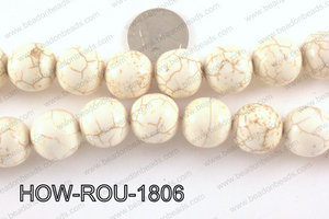 Howlite Round White 18mm HOW-ROU-1806
