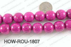 Howlite Round Hot Pink 18mm HOW-ROU-1807