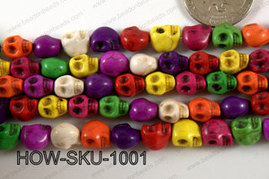 Howlite skulls 8x10mm Multi HOW-SKU-1001