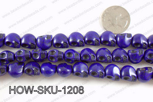 howlite skull dark blue 10x12mm HOW-SKU-1208