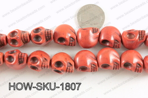 howlite skull brown 14x18mm HOW-SKU-1807